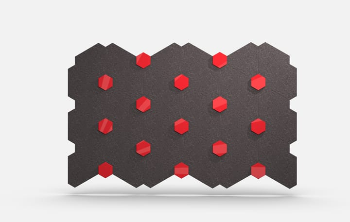 Tri Hex Material, Acrylic Red