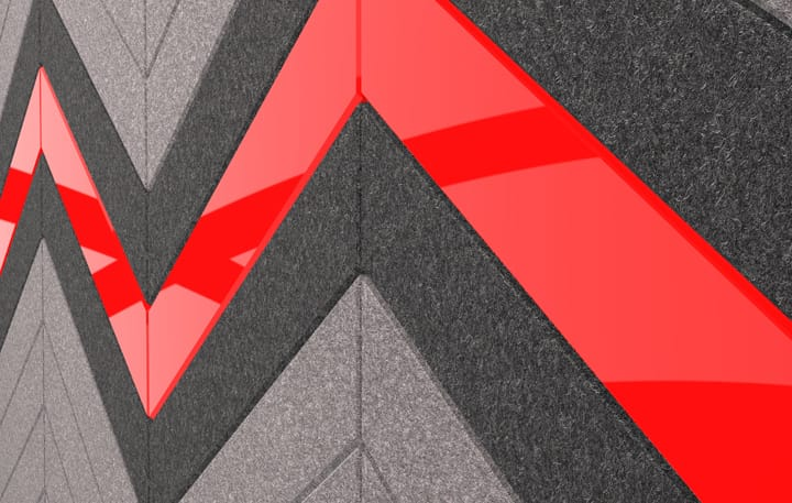 Chevrons Material, Acrylic Red Detail