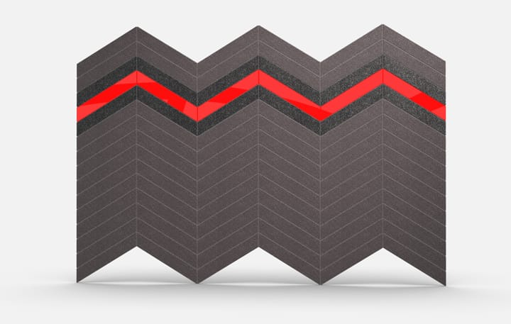 Chevrons Material, Acrylic Red