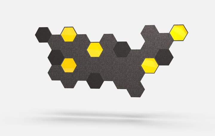 Hex Material, Acrylic Yellow