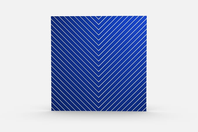 Chevrons Color, Blue Elevation